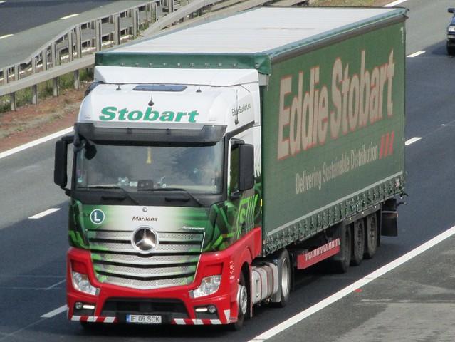 Eddie Stobart European, Mercedes Actros  (Marilena) On The A1M Southbound