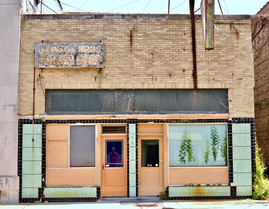 Johnson Bros. Barber Shop. - Monroe,Louisiana.