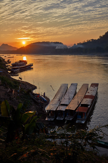 Luang Prabang – Mekong River sunset