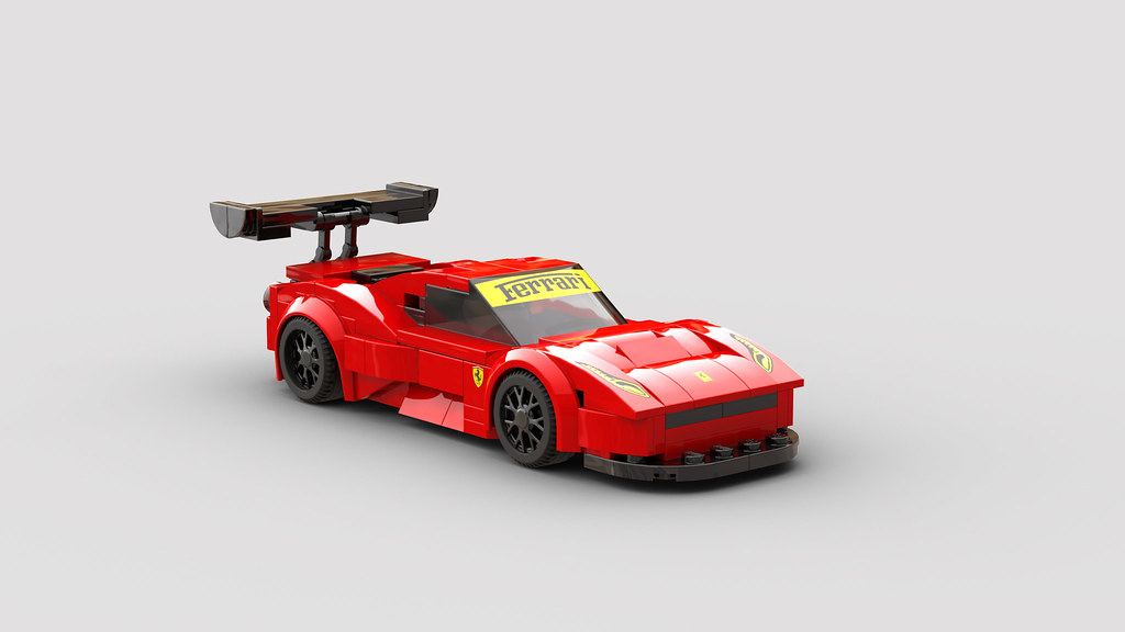 Lego Moc 25297 Moc Ferrari 458 Gt3 Speed Champions 2019 Rebrickable Build With Lego