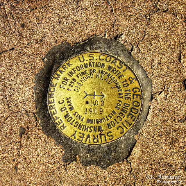 Diamond Head Survey Marker - Battery 407 - Summit of Diamond Head Crater