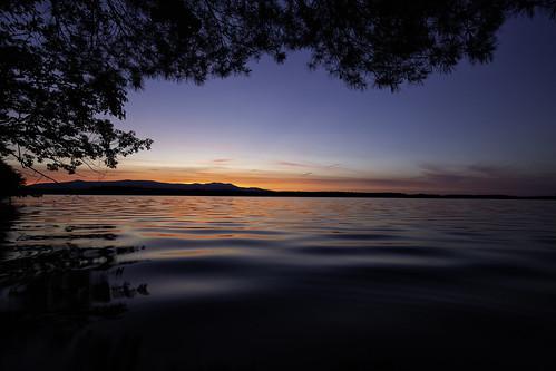 lakewinnipesaukee newhampshire night sunset threemileisland water