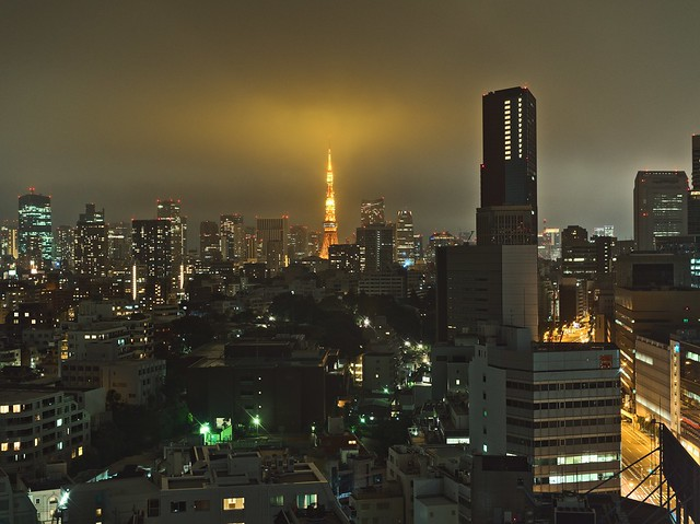Tokyo Tower on a Rainy Night
