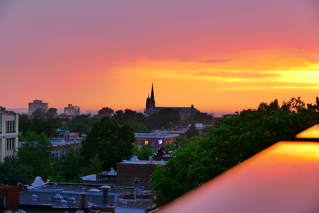 Brilliant Sunset Colour Just After An Intense Thunderstorm Cleared Frm Central Montreal