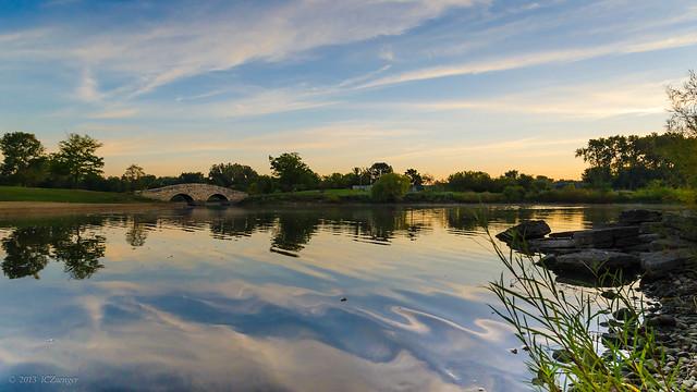 Lisle Community Park Pond sunrise rework