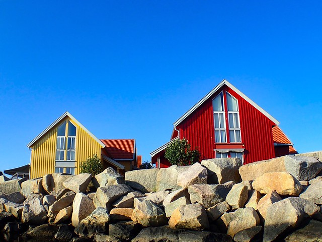 Summer houses by the sea. Norway. In explore