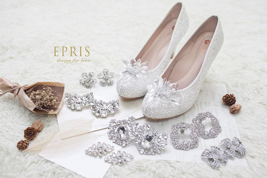 台中婚鞋 夾飾鞋花
