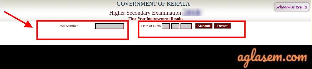 Kerala Plus One Improvement Result 2019