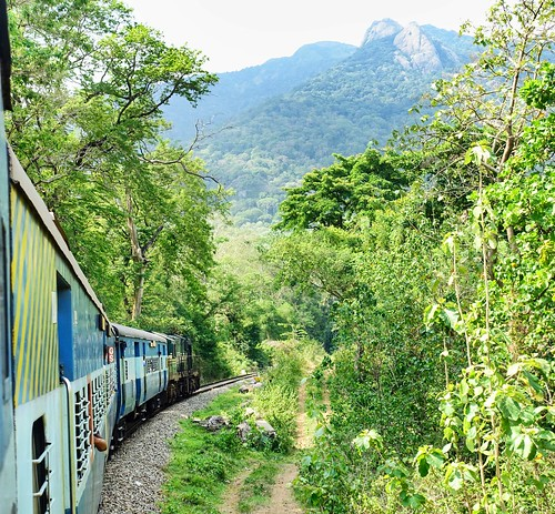 Kollam- Shenkottai train through Thenmala forest