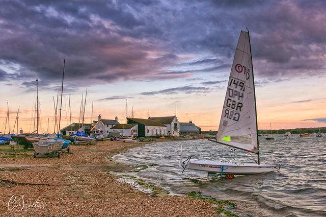 Sailing into Mudeford (Explored)