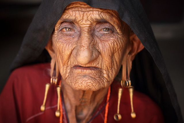 India, old Rabari woman