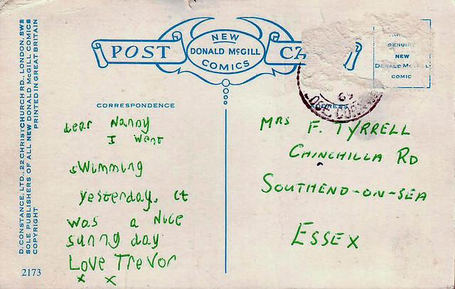 Saucy Postcard Fallen 1969 R