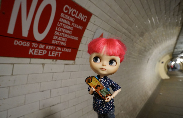 290/365  No Cycling,  ... Skateboarding in Greenwich foot tunnel