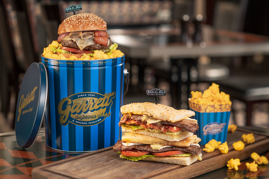 Burger and Sandwich Combo with Garrett Popcorns