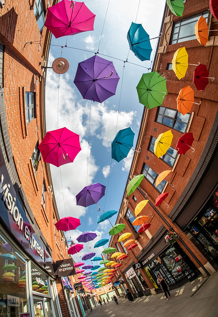 Umbrella Display , Durham City . . .