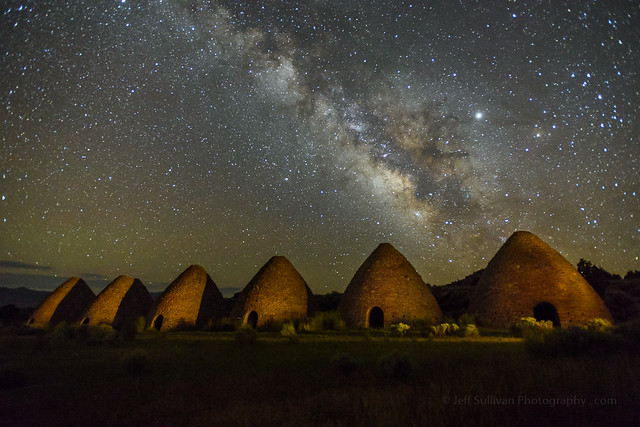 Milky Way Over Charcoal Kilns