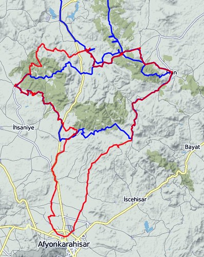 June - July 2019 bicycle tour (red) and May - June 2013 bicycle tour (blue) by bryandkeith on flickr