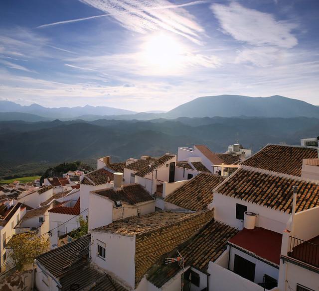 Olvera with wonderful views on Grazalema mountains