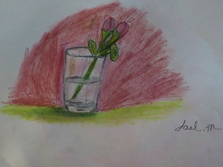 Still life drawn with pastels. Took me about 30 min.