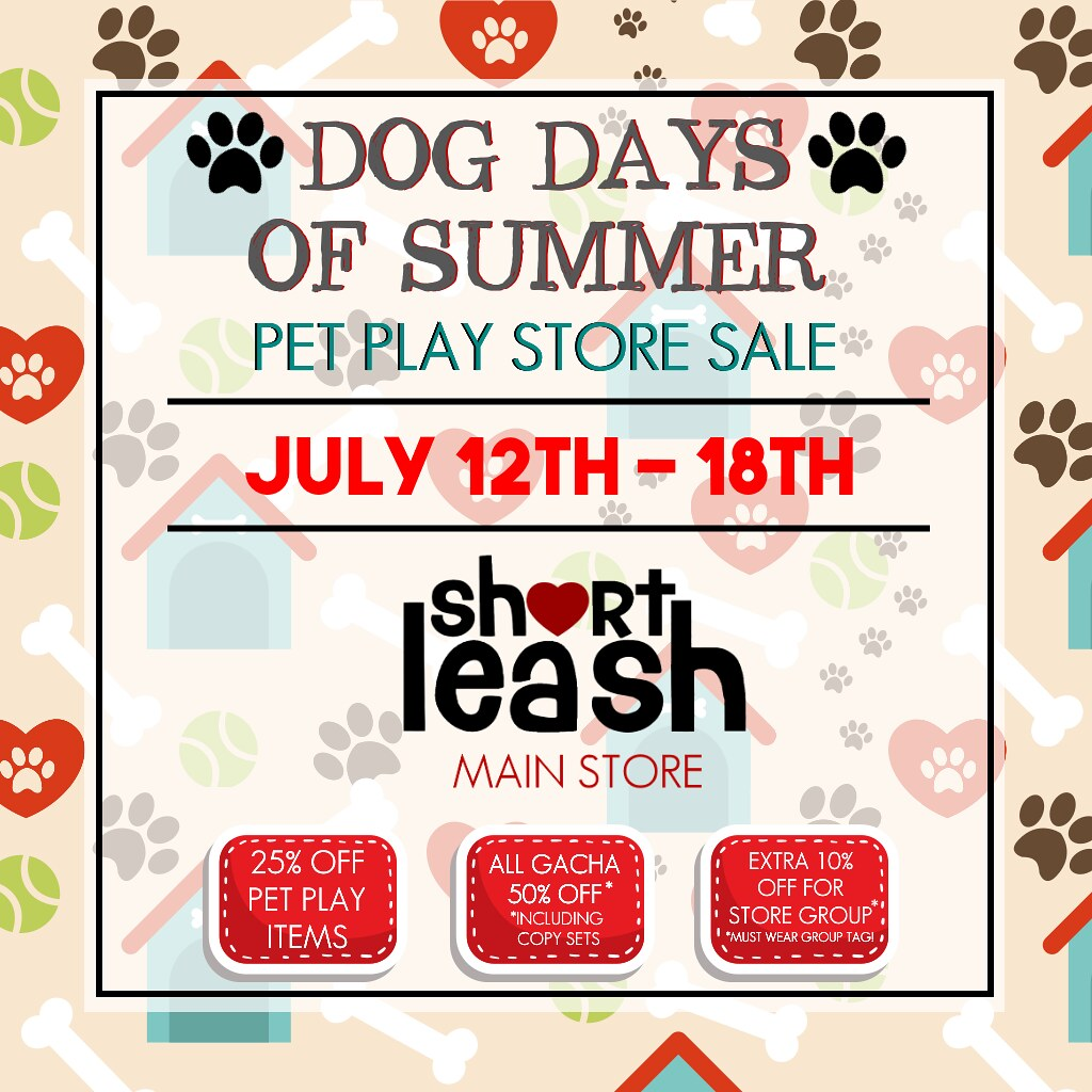 ? Dog Days of Summer Store-Wide Pet Play Sale @ .:Short Leash:. ?