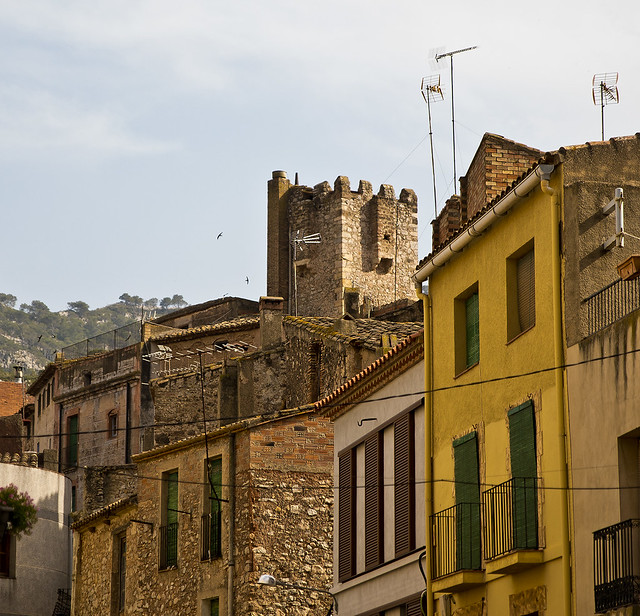 Treient el cap entre teulades / Tower among the roofs