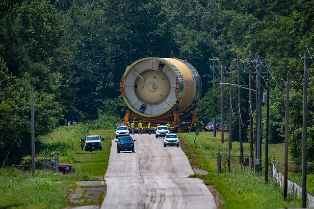 NASA's Space Launch System (SLS) Core Stage Arrives at Marshall