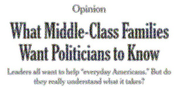 They're Not Middle Class, They're Well-Off, and That Should