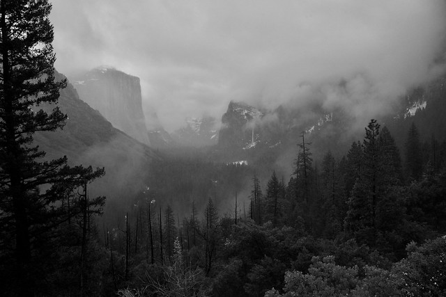 Tunnel View in clouds