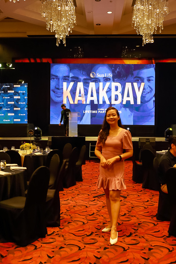 Jaycelle attending the launch event of Sun Life Kaakbay: Stories of Lifetime Partnerships