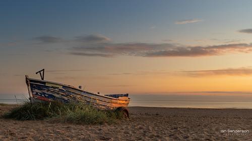 sunrise uk north yorkshire england boat texture old landscape seascape vista marske