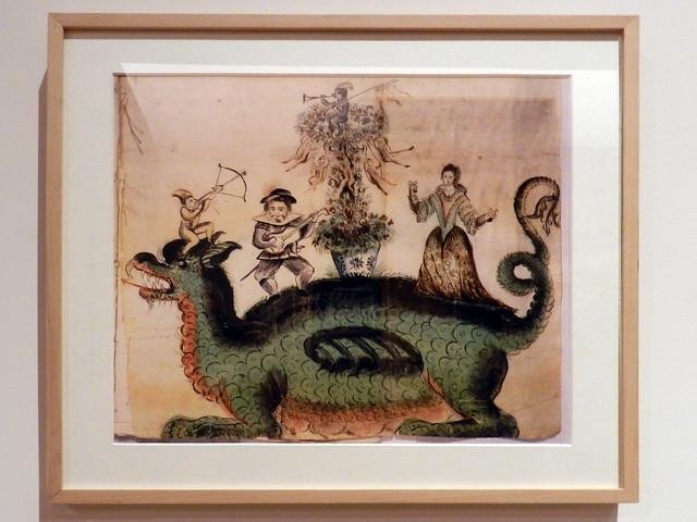 La Tarasca del Corpus Christi en Madrid dibujo Museo de Historia de Madrid 01