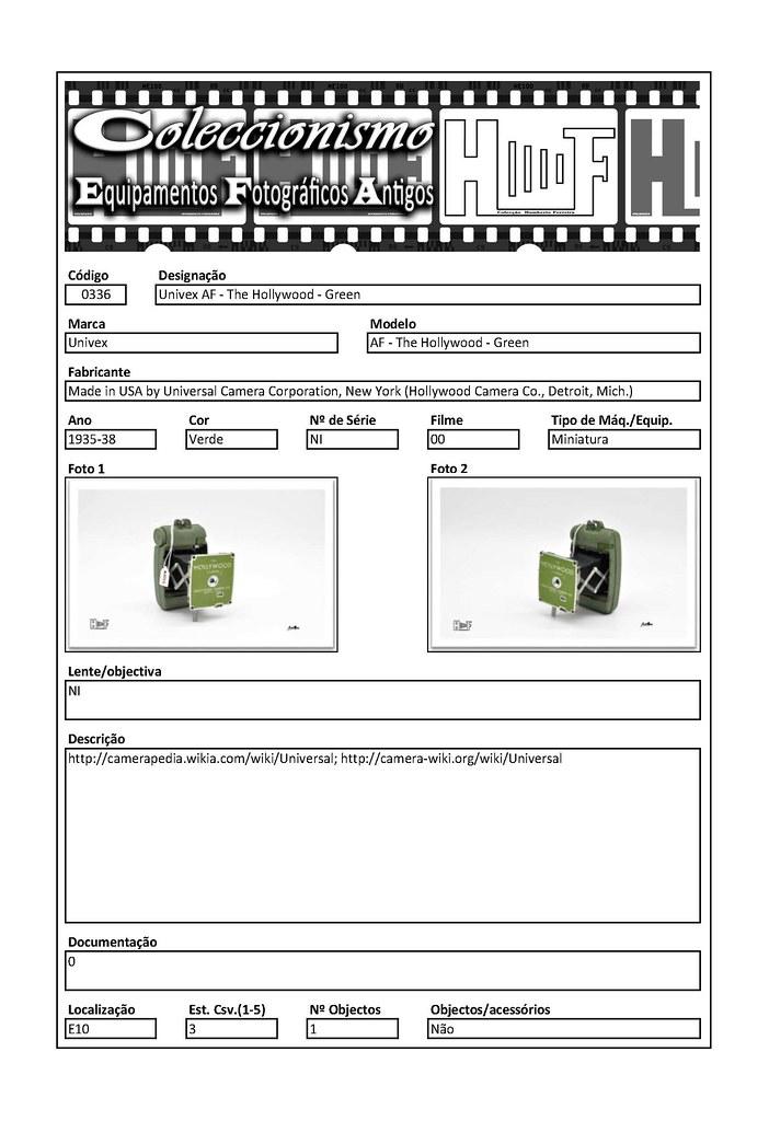 Inventariação da colecção_0336 Univex AF - The Hollywood - Green