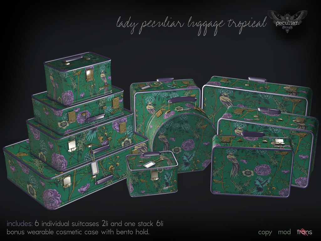 PROMO lady peculiar luggage tropical