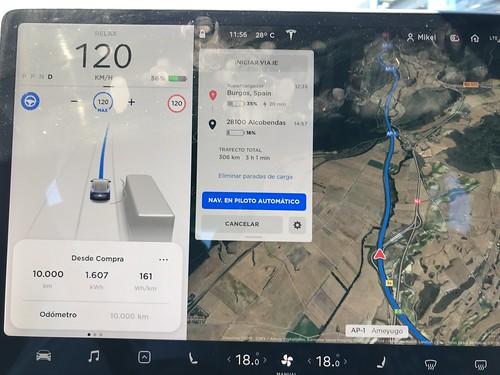 Consumo de un Tesla Model 3 a los 10.000 km