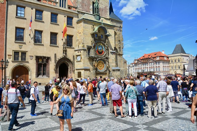 Prague 2019 – Crowd in front of the Astronomical Clock