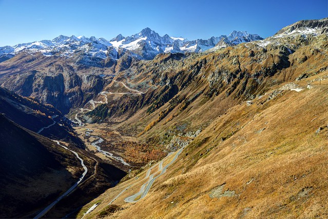 Vallée du Rhône, Valais, Suisse
