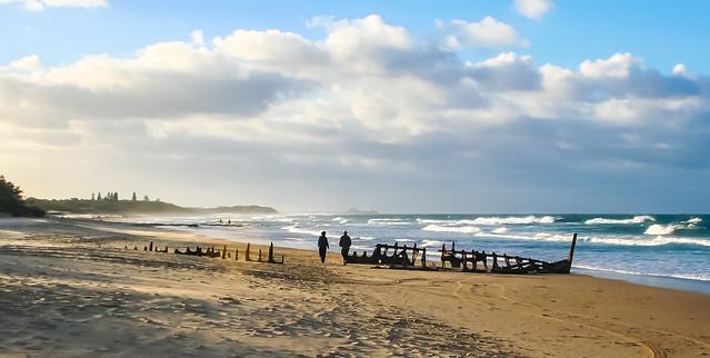 wild ocean at Dicky Beach__