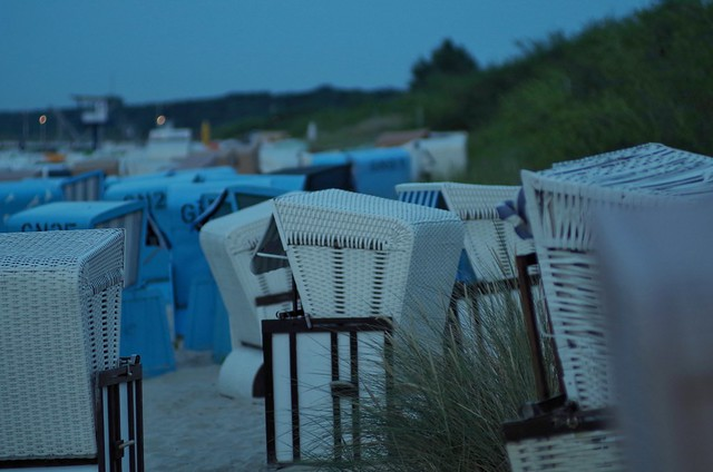 Beach chairs after sunset | Tair11A 135mm f/2.8 M42 | IMGP7708c