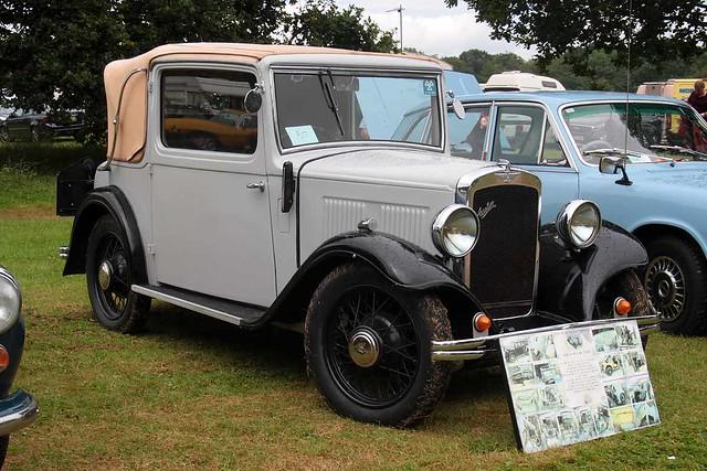 1934 Austin 10-4 Cabriolet (HV 4127) 1100cc - Elvaston Steam 2019 - Elvaston Castle