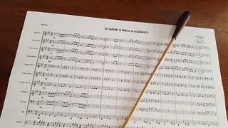 La partitura dell'opera inedita