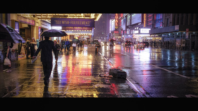 Rainy Night on 42nd Street
