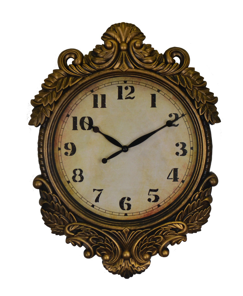 Gold Antique Wall Clock Baroque Victorian Style Elegant Wall Decor For Home Or Office