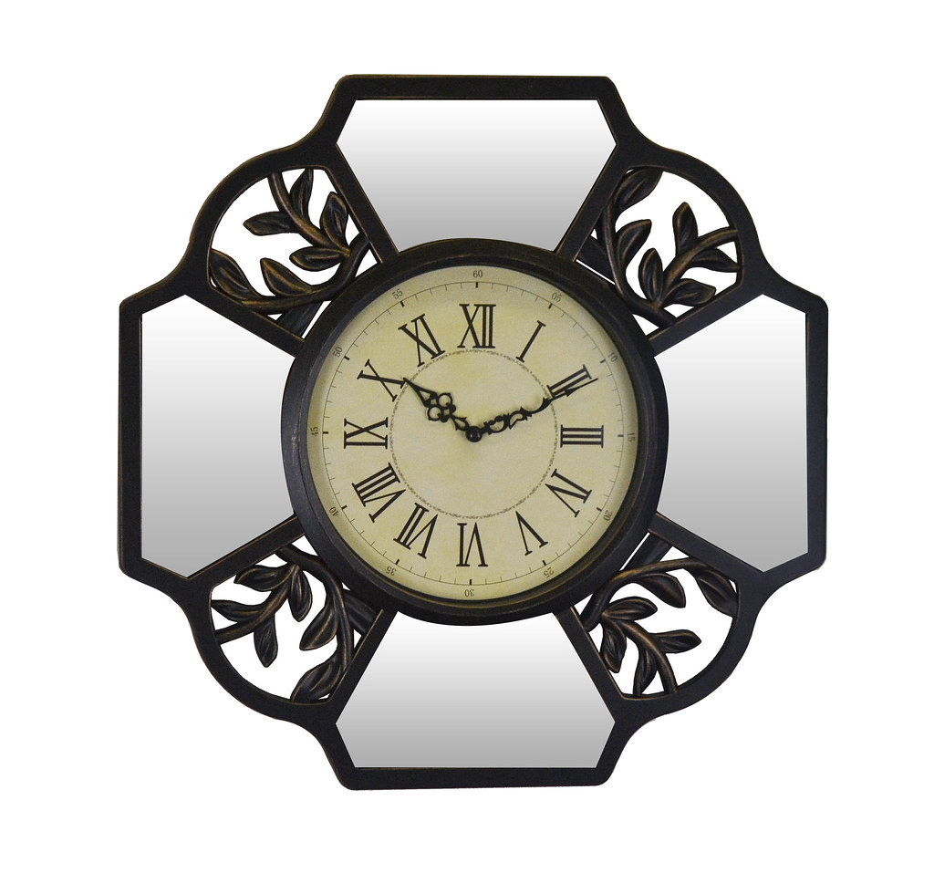 Wall Clock Mirror Pieces & Leaf Cutouts