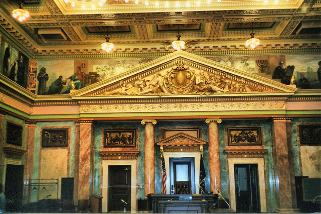 Fort Wayne - Indiana - Allen County Courthouse - Mural Interior - Supreme Court  -