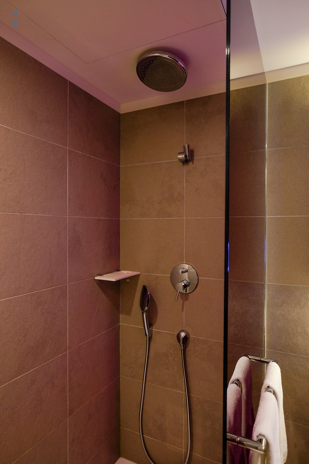Shower space in the bathroom