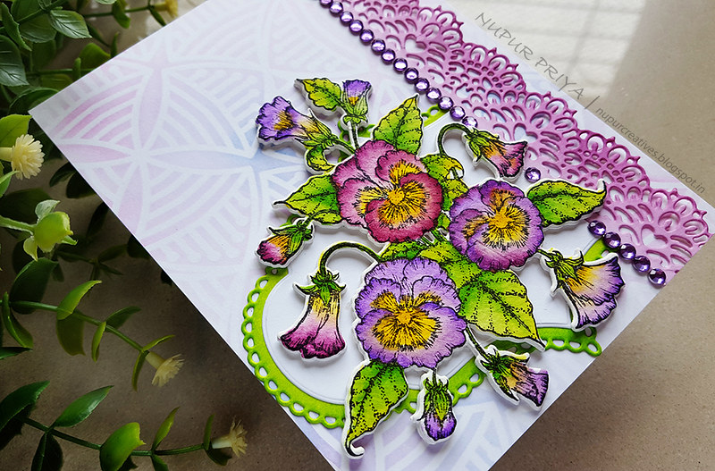 Purple Pansy Card 2