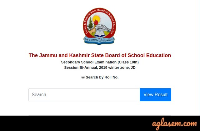 JKBOSE 10th Bi-Annual Result 2019 Jammu Province (Winter Zone)