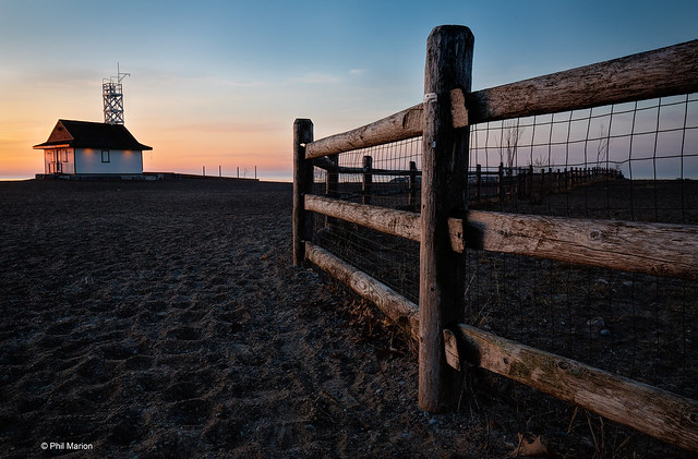 Leuty Lifeguard Station at dawn - Kew Beach, Toronto