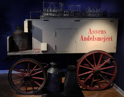 Coop Dairy Milk Wagon in the Danish History Museum in Copenhagen, Denmark