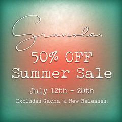 Granola. Summer Sale!